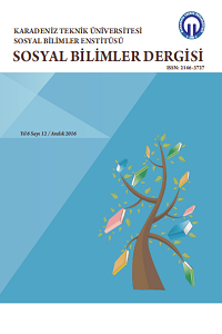 Karadeniz Teknik Üniversitesi Sosyal Bilimler Enstitüsü Sosyal Bilimler Dergisi
