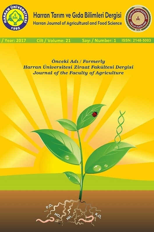 Harran Journal of Agricultural and Food Science