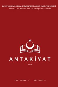 Antakiyat/Hatay Mustafa Kemal Üniversitesi İlahiyat Fakültesi Dergisi