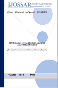 International Journal of Social Sciences Academic Researches