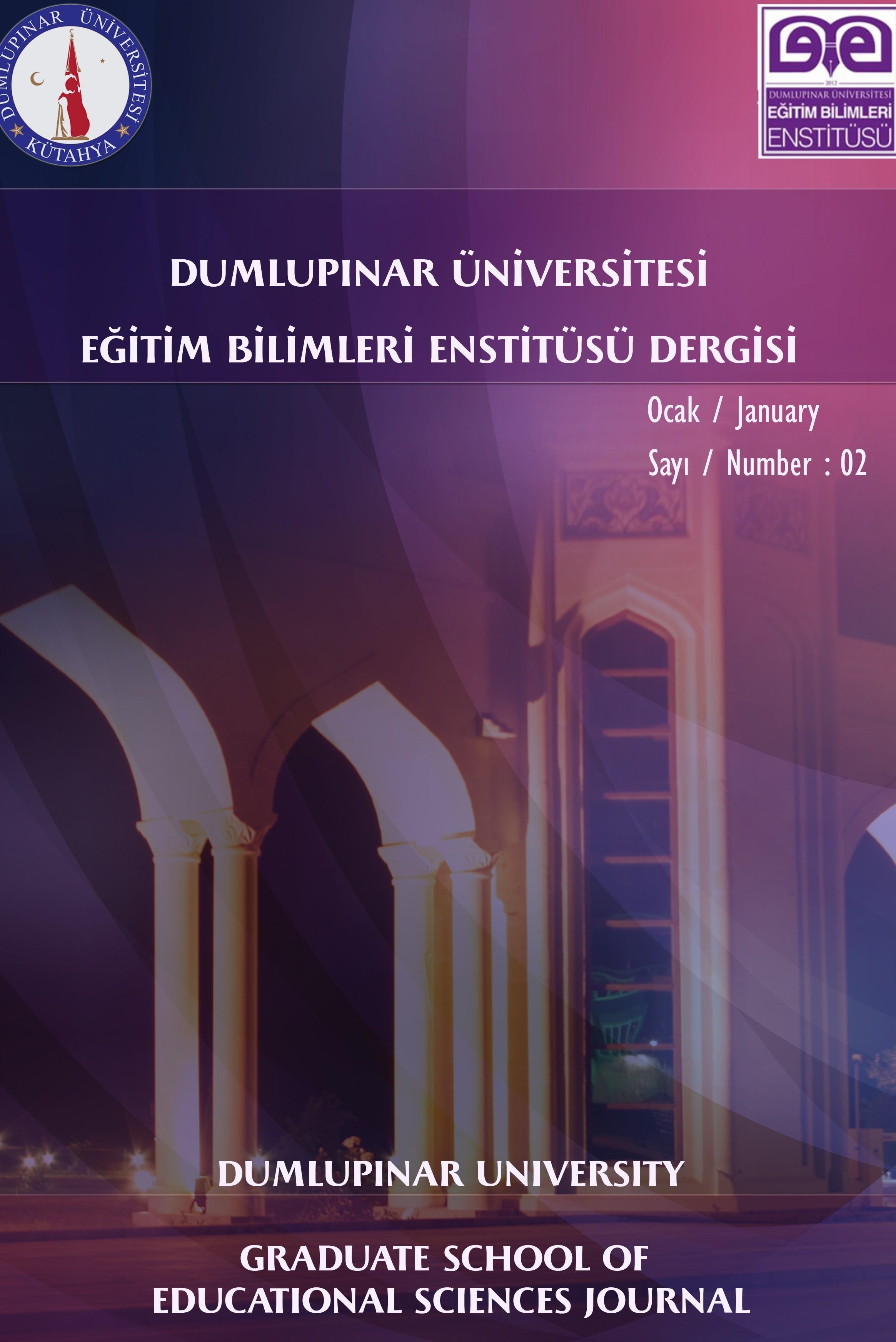 Dumlupınar Üniversitesi Eğitim Bilimleri Enstitüsü Dergisi