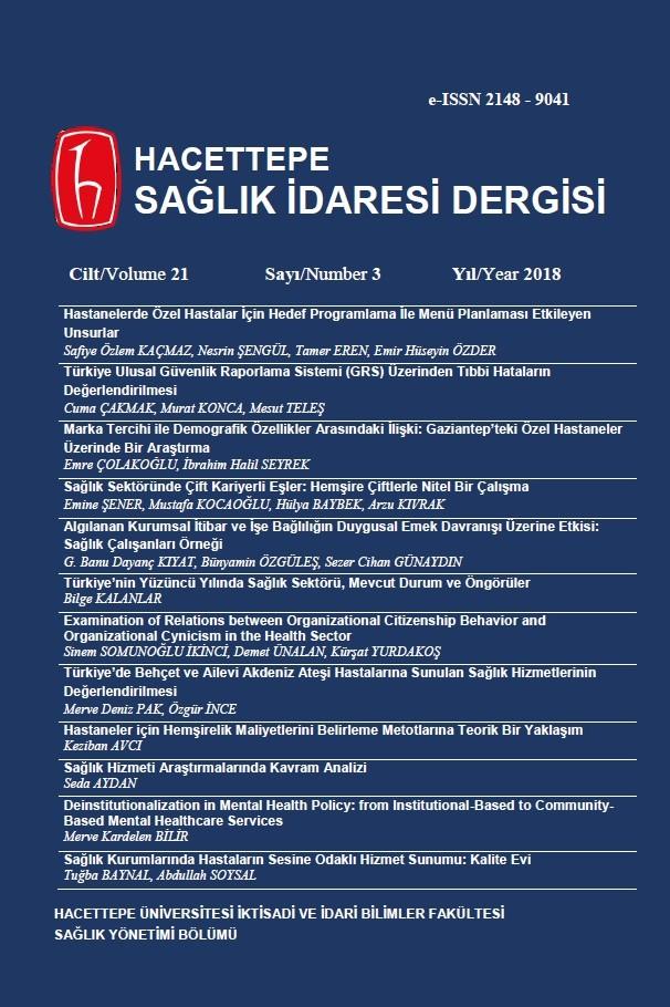 Hacettepe Sağlık İdaresi Dergisi