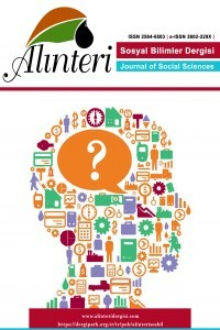 Alinteri Journal of Social Sciences